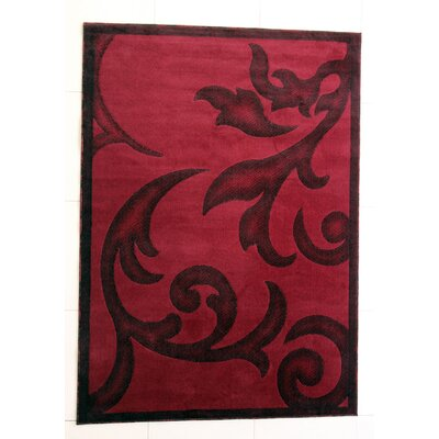 Shelby Burgundy Area Rug Rug Size: 5'3