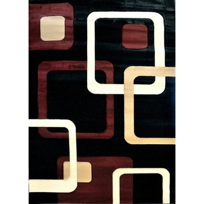 Sonora Black Area Rug Rug Size: 2 x 3