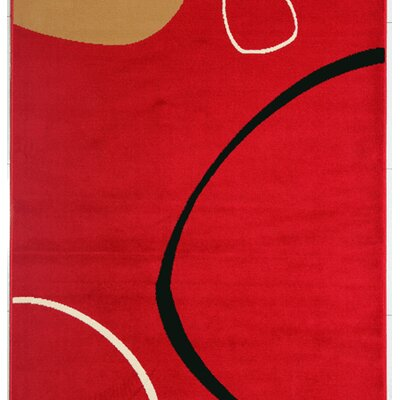 Tearra Red Area Rug Rug Size: 53 x 72