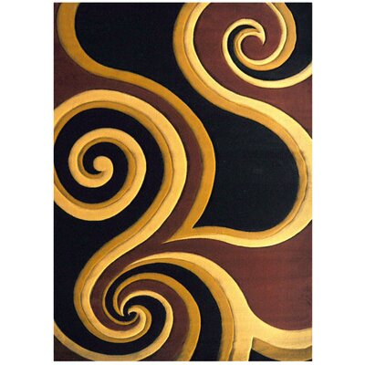 Harpole Black Area Rug Rug Size: Rectangle 53 x 72