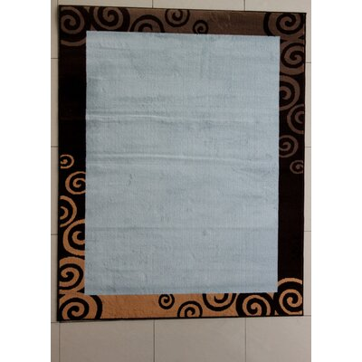 Flims Blue Area Rug Rug Size: 53 x 72