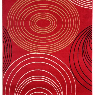 Joseluis Red Area Rug Rug Size: Runner 2 x 72