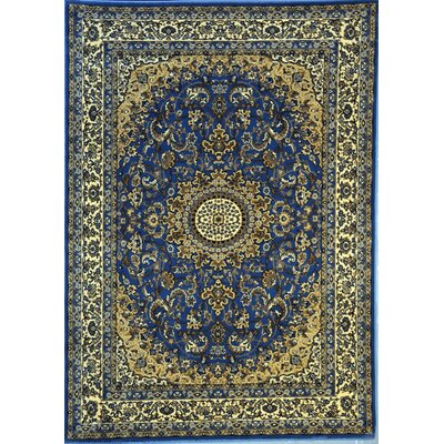 Presque Light Blue Area Rug Rug Size: 53 x 72