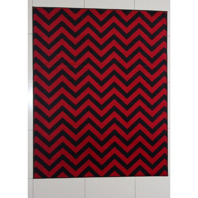 Filahy Black Area Rug Rug Size: 53 x 72