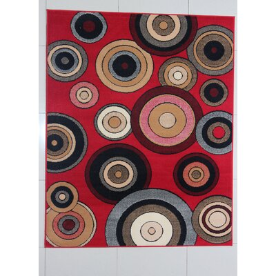Gramer Red Area Rug Rug Size: Runner 2 x 72