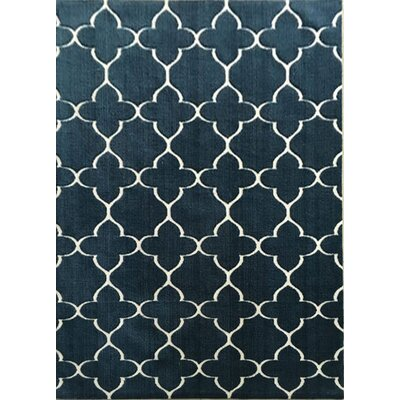 Athan Navy Area Rug Rug Size: 53 x 72