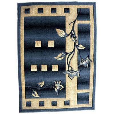 Gabbie Blue Area Rug Rug Size: Rectangle 4 x 6