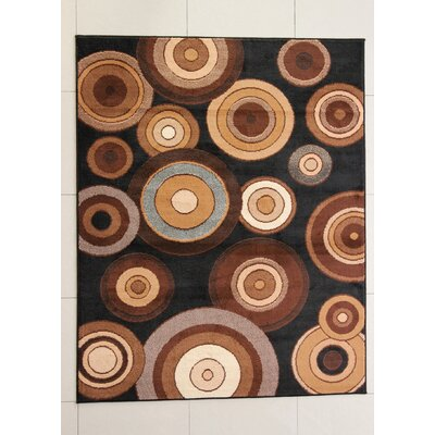 Cashiola Black Area Rug Rug Size: 53 x 72