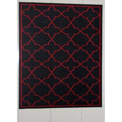 Budde Black Area Rug Rug Size: 711 x 910