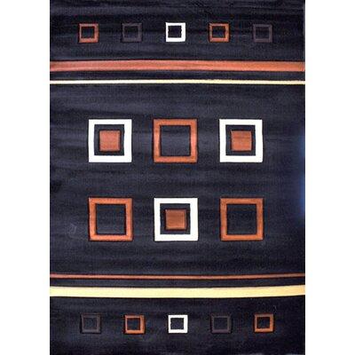 Viafora Black Area Rug Rug Size: Runner 27 x 146
