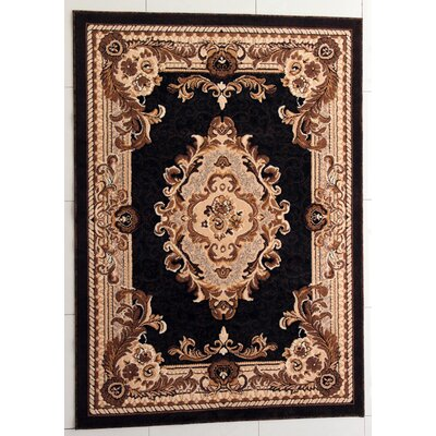 Pilkington Black Area Rug Rug Size: 53 x 72