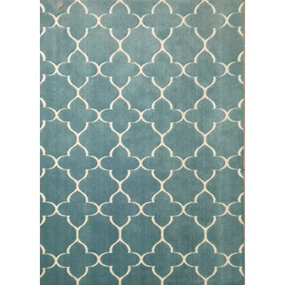Sherwood Blue Area Rug Rug Size: 53 x 72