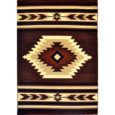 Drummond Brown Area Rug Rug Size: 53 x 72
