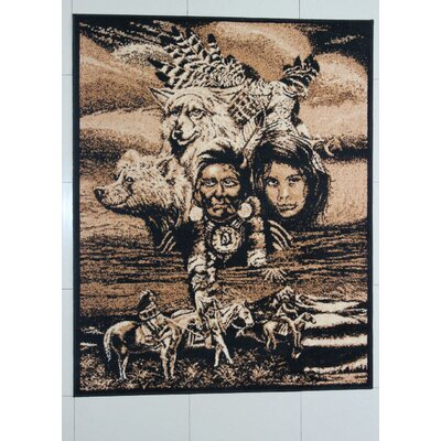 Elmwood Black Area Rug Rug Size: 53 x 72