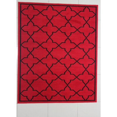 Buffalo Red Area Rug Rug Size: Runner 2 x 72