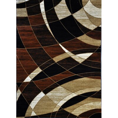 Cotton Brown Area Rug Rug Size: 53 x 72
