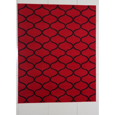 Hardison Red Area Rug Rug Size: Runner 2 x 72