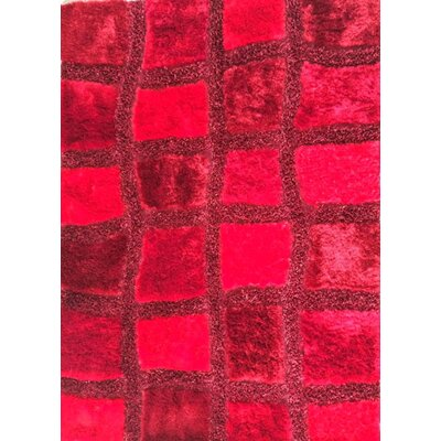Korin Red Area Rug Rug Size: 53 x 72