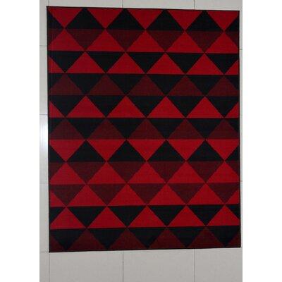 Wofford Black Area Rug Rug Size: 53 x 72