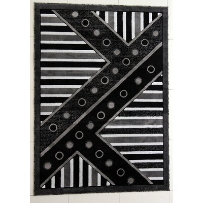 Rieger Dark Gray Area Rug Rug Size: Runner 27 x 910
