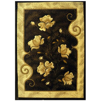 Pellston Black Area Rug Rug Size: Rectangle 4 x 6