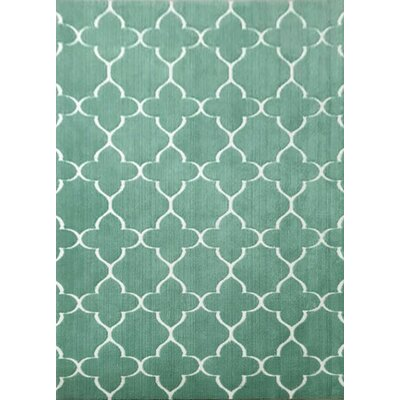 Casarina Turquoise Area Rug Rug Size: 53 x 72