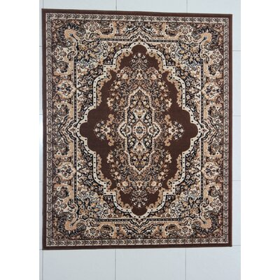Raynerson Brown Area Rug Rug Size: 711 x 910