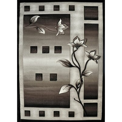Fiona Black Area Rug Rug Size: Rectangle 4 x 6