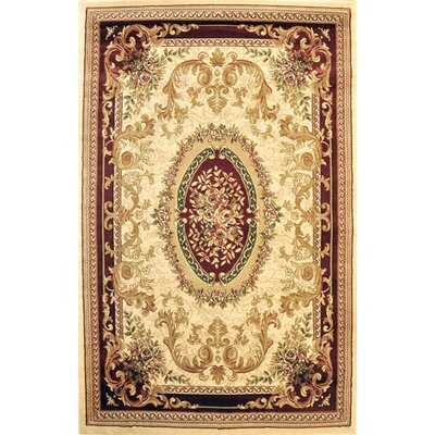 Pettigrew Ivory Area Rug Rug Size: Rectangle 53 x 72