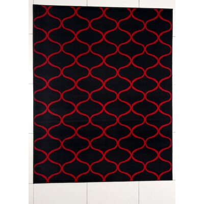 Haywood Black Area Rug Rug Size: 53 x 72
