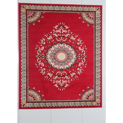 Pinehill Red Area Rug Rug Size: 53 x 72