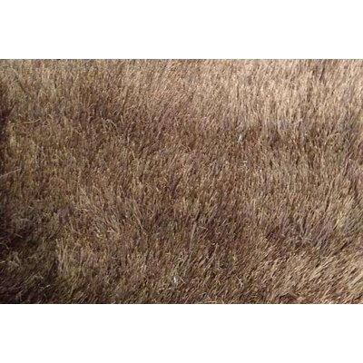 Georgene Brown Area Rug Rug Size: 53 x 72