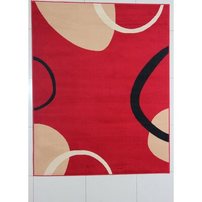 Mitra Red Area Rug Rug Size: 53 x 72