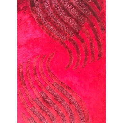 Hananiah Red Area Rug Rug Size: 53 x 72