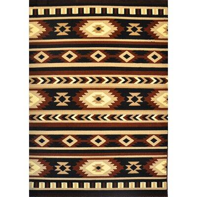 Ena Black Area Rug Rug Size: 4 x 6
