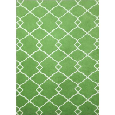 Pond Brook Green Area Rug Rug Size: 711 x 910