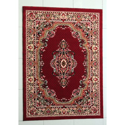 Paterson Red Area Rug Rug Size: 711 x 910