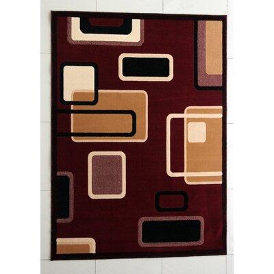 Enzo Burgundy Area Rug Rug Size: 711 x 910
