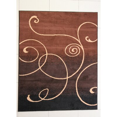 Haston Black Area Rug Rug Size: 711 x 910