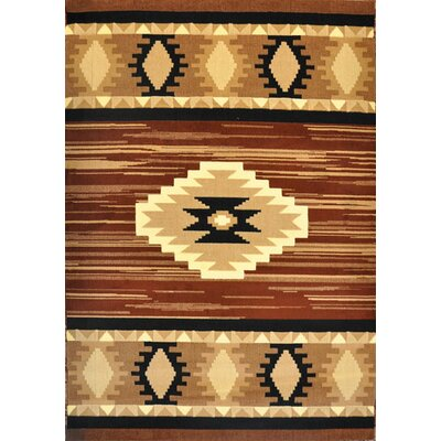 Elowen Brown Area Rug Rug Size: 53 x 72