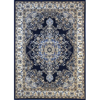 Piccadilly Dark Blue Area Rug Rug Size: Runner 27 x 91