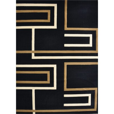 Vasco Black Area Rug Rug Size: 53 x 72