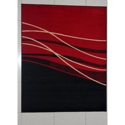 Gearldine Black Area Rug Rug Size: 711 x 910