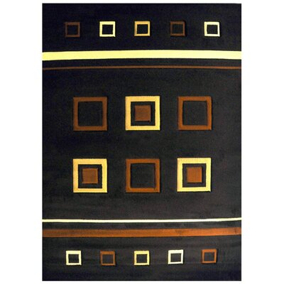 Erdem Brown Area Rug Rug Size: 53 x 72