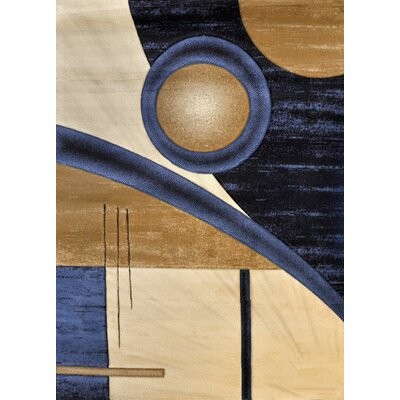 Helena Dark Blue Area Rug Rug Size: Rectangle 53 x 72