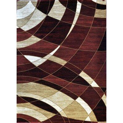Giancarlo Burgundy Area Rug Rug Size: 66 x 99