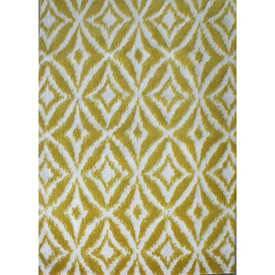 Bosarge Yellow Area Rug Rug Size: 53 x 72
