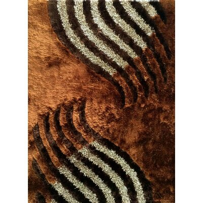 Huy Brown Area Rug Rug Size: 53 x 72