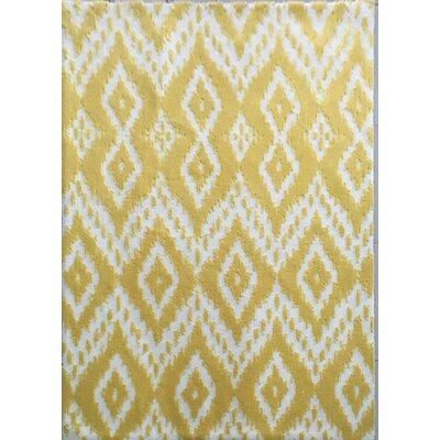 Elnora Yellow Area Rug Rug Size: 53 x 72