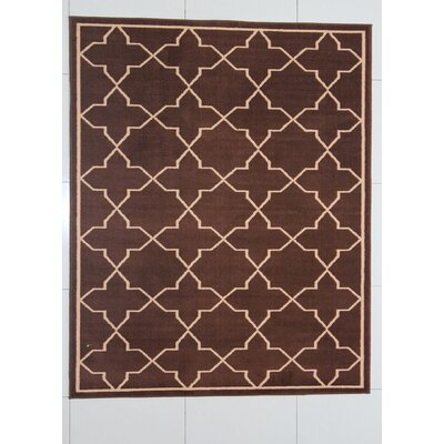 Buda Brown Area Rug Rug Size: 53 x 72